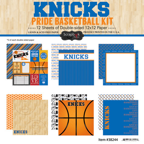 Scrapbook Customs - Basketball - 12 x 12 Paper Pack - Knicks Pride