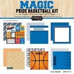 Scrapbook Customs - Basketball - 12 x 12 Paper Pack - Magic Pride