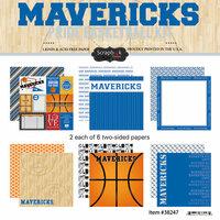 Scrapbook Customs - Basketball - 12 x 12 Paper Pack - Mavericks Pride