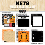 Scrapbook Customs - Basketball - 12 x 12 Paper Pack - Nets Pride