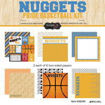 Scrapbook Customs - Basketball - 12 x 12 Paper Pack - Nuggets Pride