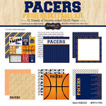 Scrapbook Customs - Basketball - 12 x 12 Paper Pack - Pacers Pride