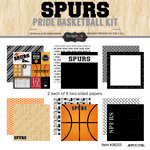 Scrapbook Customs - Basketball - 12 x 12 Paper Pack - Spurs Pride