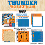 Scrapbook Customs - Basketball - 12 x 12 Paper Pack - Thunder Pride
