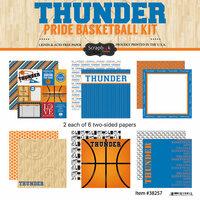 Scrapbook Customs - Basketball - 12 x 12 Paper Pack - Thunder Pride