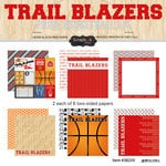 Scrapbook Customs - Basketball - 12 x 12 Paper Pack - Trail Blazers Pride