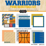 Scrapbook Customs - Basketball - 12 x 12 Paper Pack - Warriors Pride