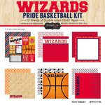 Scrapbook Customs - Basketball - 12 x 12 Paper Pack - Wizards Pride