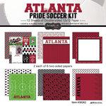 Scrapbook Customs - Soccer - 12 x 12 Paper Pack - Atlanta Pride