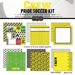Scrapbook Customs - Soccer - 12 x 12 Paper Pack - Crew Pride