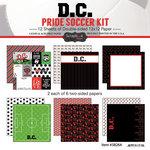 Scrapbook Customs - Soccer - 12 x 12 Paper Pack - D.C. Pride