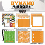 Scrapbook Customs - Soccer - 12 x 12 Paper Pack - Dynamo Pride
