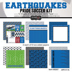 Scrapbook Customs - Soccer - 12 x 12 Paper Pack - Earthquakes Pride