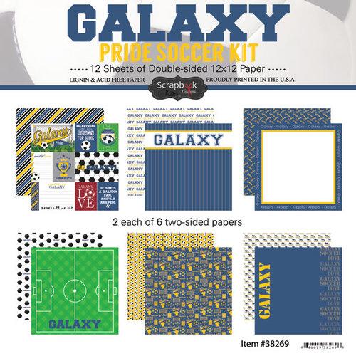 Scrapbook Customs - Soccer - 12 x 12 Paper Pack - Galaxy Pride