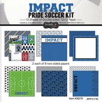 Scrapbook Customs - Soccer - 12 x 12 Paper Pack - Impact Pride