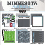 Scrapbook Customs - Soccer - 12 x 12 Paper Pack - Minnesota Pride