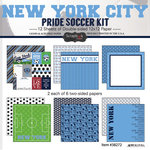Scrapbook Customs - Soccer - 12 x 12 Paper Pack - New York City Pride