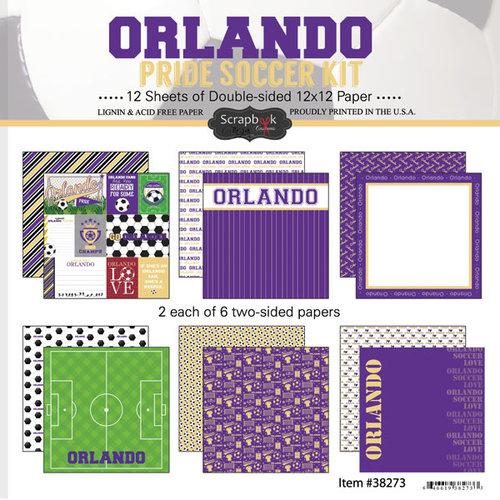 Scrapbook Customs - Soccer - 12 x 12 Paper Pack - Orlando Pride