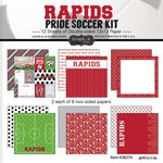 Scrapbook Customs - Soccer - 12 x 12 Paper Pack - Rapids Pride