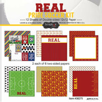 Scrapbook Customs - Soccer - 12 x 12 Paper Pack - Real Pride