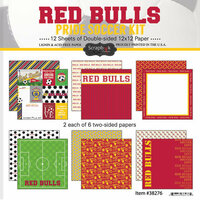 Scrapbook Customs - Soccer - 12 x 12 Paper Pack - Red Bulls Pride