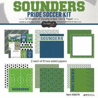 Scrapbook Customs - Soccer - 12 x 12 Paper Pack - Sounders Pride