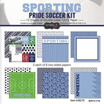 Scrapbook Customs - Soccer - 12 x 12 Paper Pack - Sporting Pride