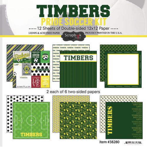 Scrapbook Customs - Soccer - 12 x 12 Paper Pack - Timbers Pride