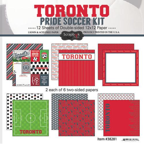 Scrapbook Customs - Soccer - 12 x 12 Paper Pack - Toronto Pride