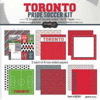 Scrapbook Customs - Soccer - 12 x 12 Paper Pack - Toronto Pride