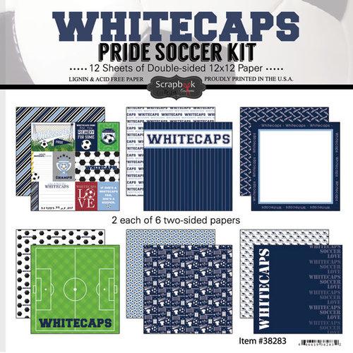 Scrapbook Customs - Soccer - 12 x 12 Paper Pack - Whitecaps Pride