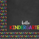 Scrapbook Customs - School Collection - 12 x 12 Double Sided Paper - Hello Kindergarten