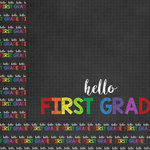 Scrapbook Customs - School Collection - 12 x 12 Double Sided Paper - Hello First Grade