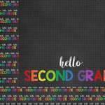 Scrapbook Customs - School Collection - 12 x 12 Double Sided Paper - Hello Second Grade