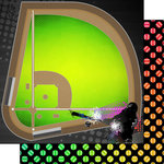 Scrapbook Customs - Neon Sports Collection - Baseball - 12 x 12 Double Sided Paper - 3