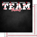 Scrapbook Customs - Neon Sports Collection - Baseball - 12 x 12 Double Sided Paper - 5