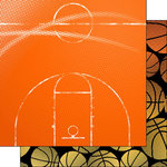 Scrapbook Customs - Neon Sports Collection - Basketball - 12 x 12 Double Sided Paper - 2