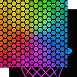 Scrapbook Customs - Neon Sports Collection - Basketball - 12 x 12 Double Sided Paper - 4