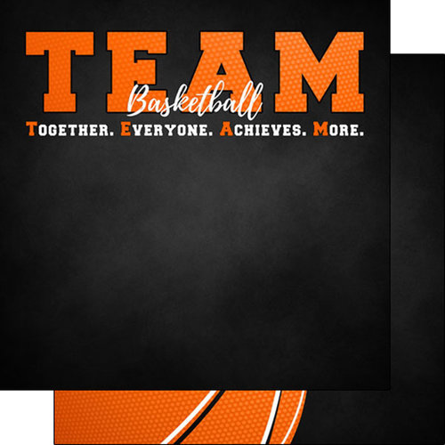 Scrapbook Customs - Neon Sports Collection - Basketball - 12 x 12 Double Sided Paper - 5