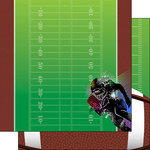 Scrapbook Customs - Neon Sports Collection - Football - 12 x 12 Double Sided Paper - 1
