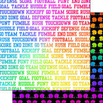 Scrapbook Customs - Neon Sports Collection - Football - 12 x 12 Double Sided Paper - 3