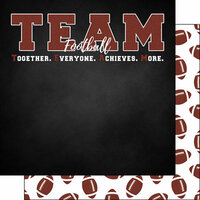 Scrapbook Customs - Neon Sports Collection - Football - 12 x 12 Double Sided Paper - 5