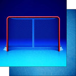 Scrapbook Customs - Neon Sports Collection - Hockey - 12 x 12 Double Sided Paper - 2