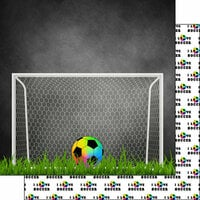 Scrapbook Customs - Neon Sports Collection - Soccer - 12 x 12 Double Sided Paper - 1
