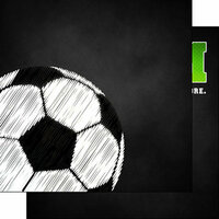 Scrapbook Customs - Neon Sports Collection - Soccer - 12 x 12 Double Sided Paper - 5
