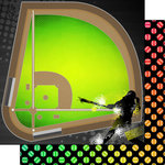 Scrapbook Customs - Neon Sports Collection - Softball - 12 x 12 Double Sided Paper - 3