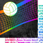 Scrapbook Customs - Neon Sports Collection - Volleyball - 12 x 12 Double Sided Paper - 1