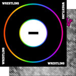 Scrapbook Customs - Neon Sports Collection - Wrestling - 12 x 12 Double Sided Paper - 4