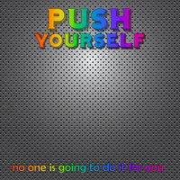 Scrapbook Customs - Neon Sport Quotes Collection - 12 x 12 Paper - Push Yourself