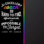 Scrapbook Customs - Neon Sport Quotes Collection - 12 x 12 Paper - Coach